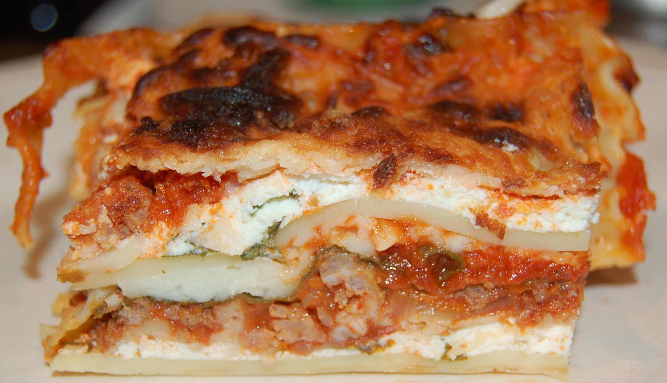 Ground Beef, Caramelized Onion, And Spinach Lasagna Recipe ...
